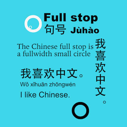 Chinese punctuation: full stop