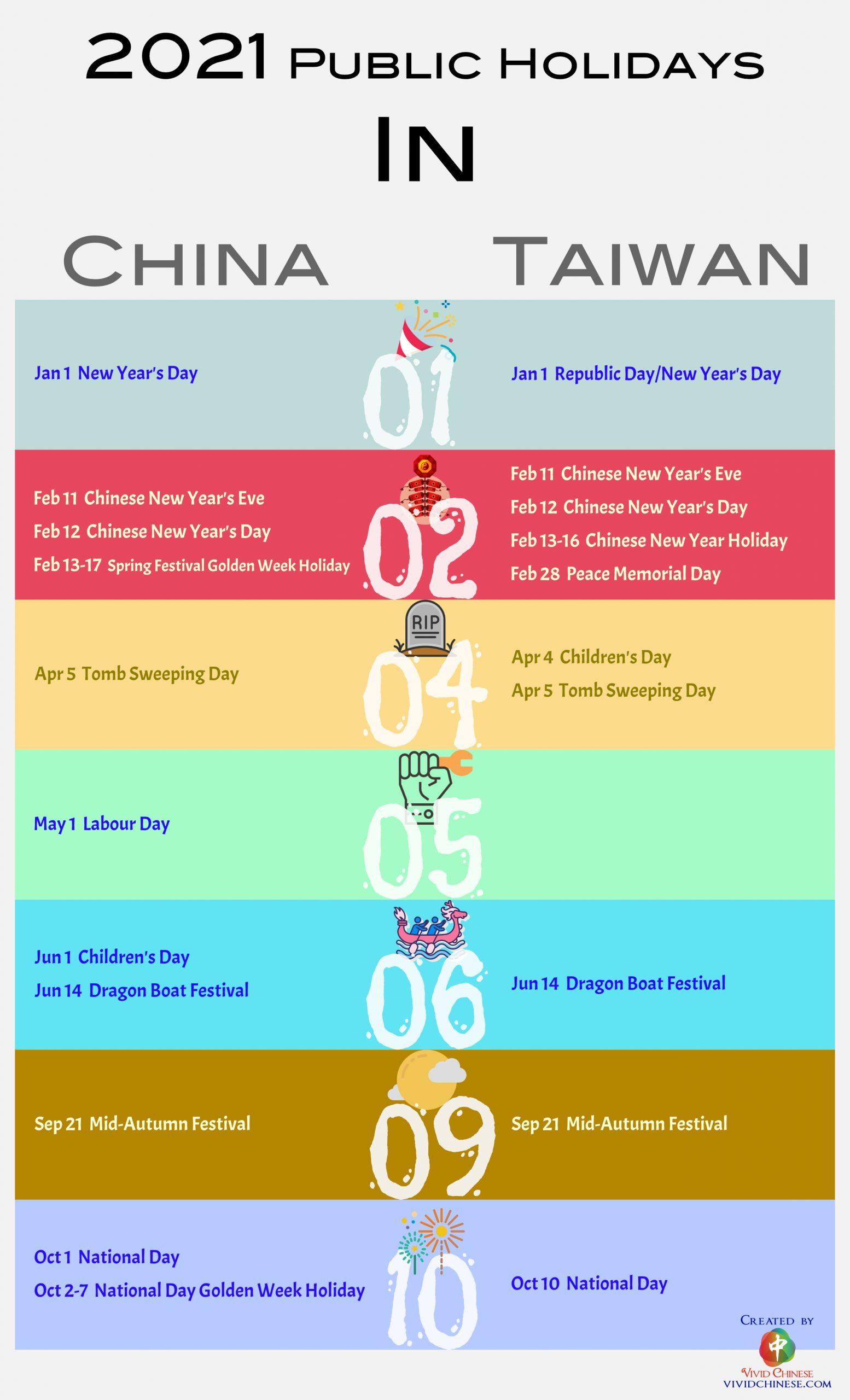 2021 Chinese public holidays