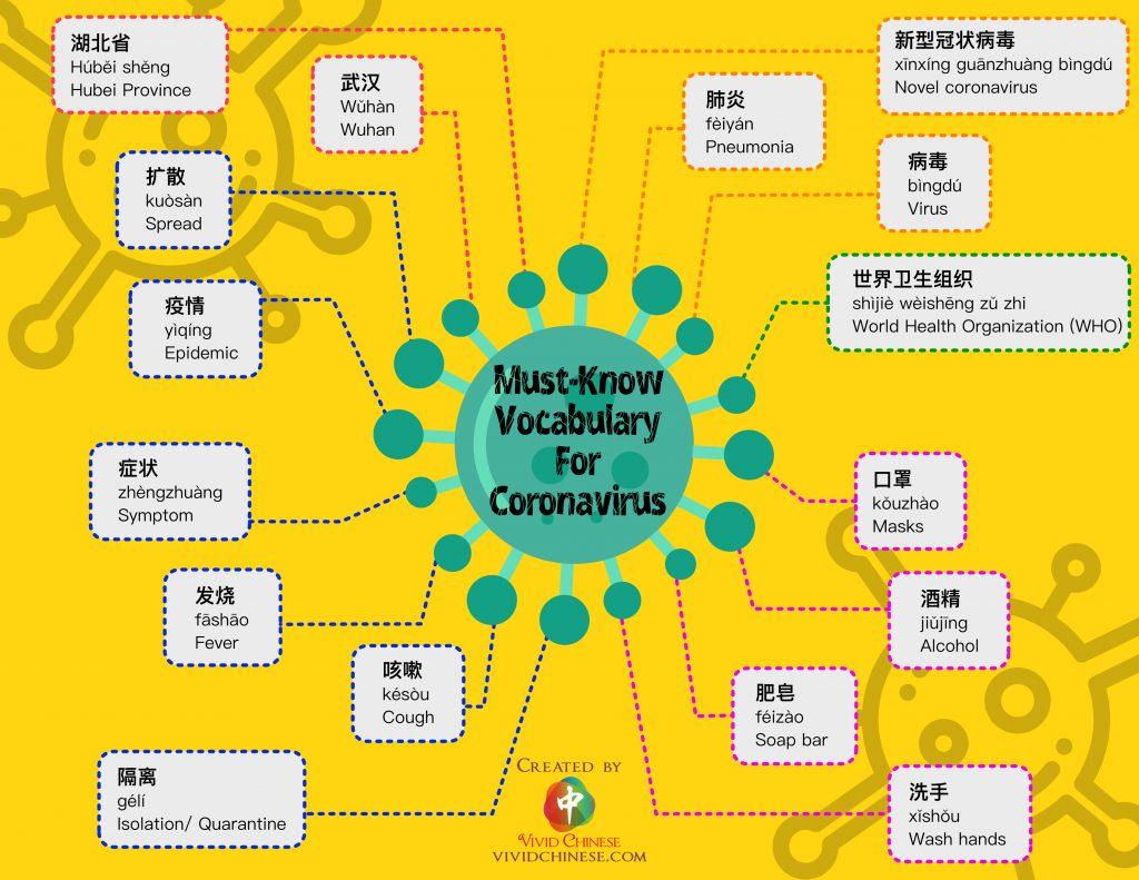 Must-Know Vocabulary For Coronavirus Infographic