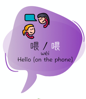 hello on the phone in Chinese