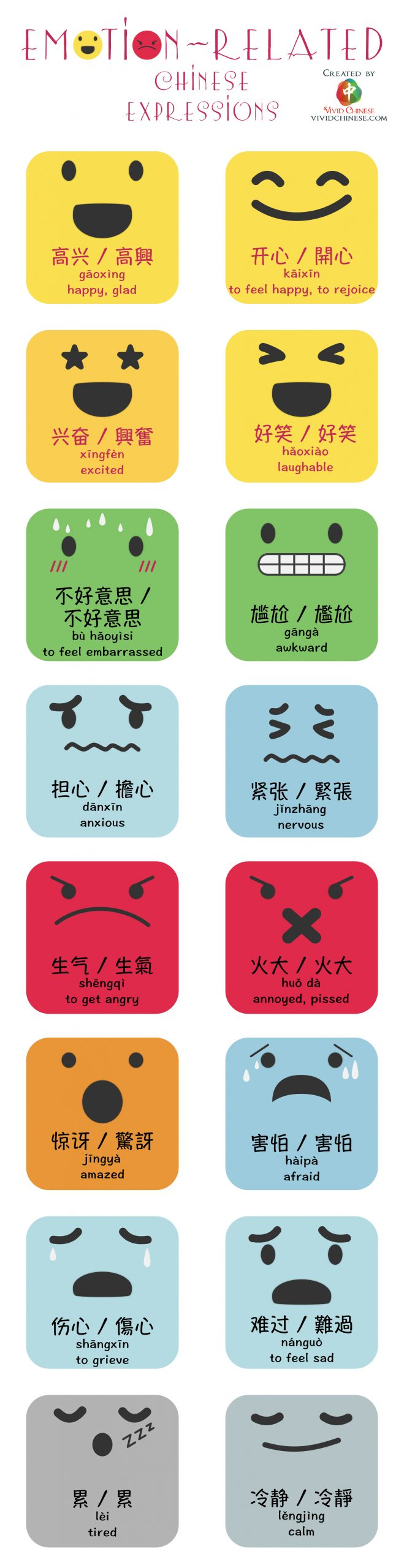 Chinese expression emotion