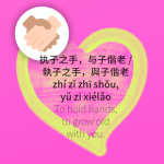 To hold hands, to grow old with you in Chinese idiom