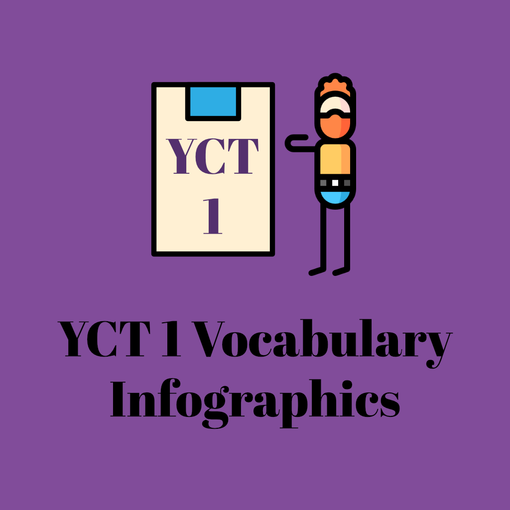 YCT 1 vocabulary infographics