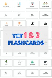 YCT 1 & 2 flashcards